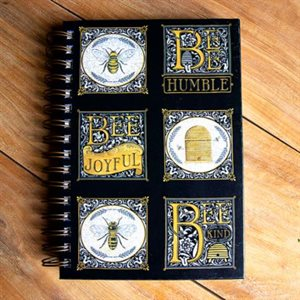 "BEE SQUARE WIRE JOURNAL 6"" X 8.5"" - BY MODA - MULTIPLE OF 4"