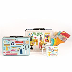 ART SUPPLY LUNCHBOX TINS BY MODA - SET OF 2 / MULTIPLE OF 2