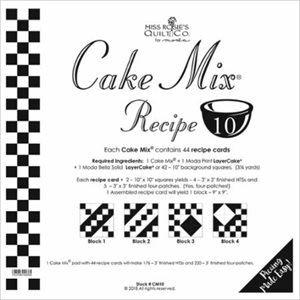 CAKE MIX RECIPE 10 PAPER PIECING BY MODA - PACKS OF 4