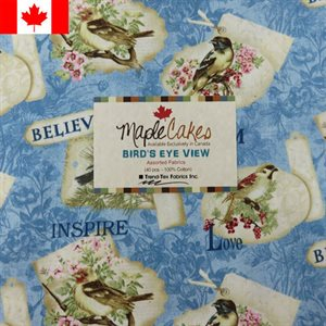 BIRD'S EYE VIEW ASSORTMENT MAPLE CAKES - 40 PCS. /  PACKS OF 4