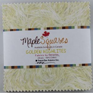 GOLDEN HIGHLITES MAPLE SQUARES - 40 PCS. / PACKS OF 12