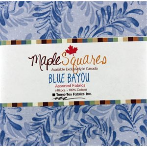 BLUE BAYOU MAPLE SQUARES - 40 PCS. / PACKS OF 12