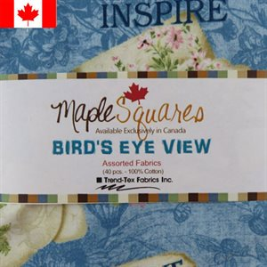 BIRD'S EYE VIEW ASSORTMENT MAPLE SQUARES - 40 PCS. / PACKS OF 12