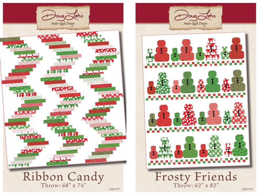 Ribbon Candy and Frosty Friends Christmas quilts design ideas