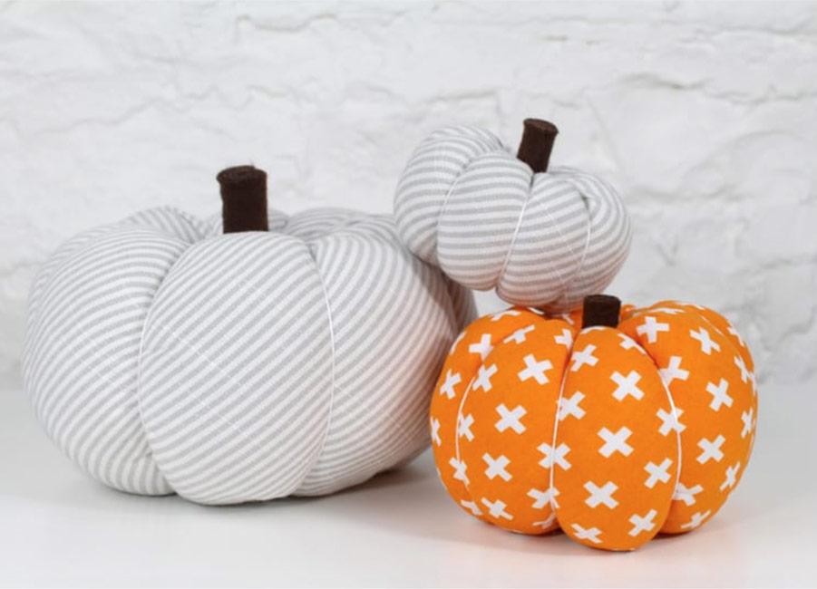 Fabric Stuffed Pumpkin Idea