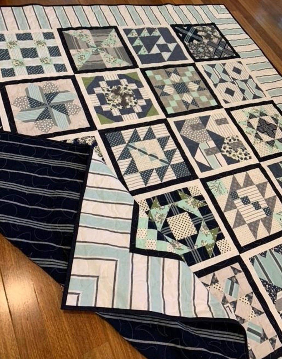 Janelle Kent Lakeside Towelling Quilt Example